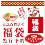 東急百貨店の福袋2018メンズのおすすめや予約情報など紹介!